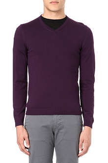 HUGO BOSS Bakub v-neck knited jumper