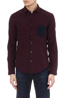 HUGO BOSS Small check patch-pocket shirt