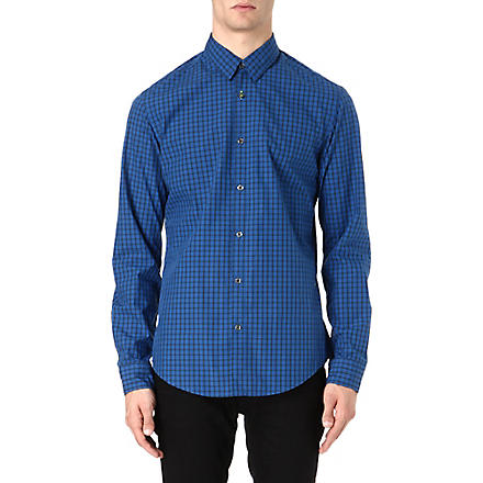 HUGO BOSS Check shirt (Navy