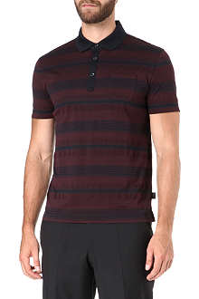 HUGO BOSS Textured stripe polo shirt