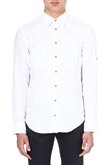 HUGO BOSS Plain linen shirt