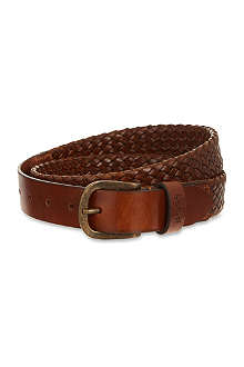 HUGO BOSS Woven leather belt