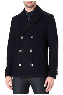 HUGO BOSS Contrast yoke pea coat