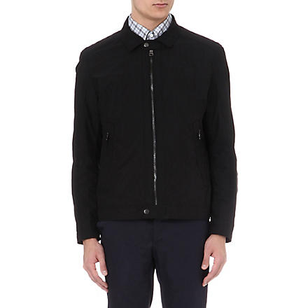 HUGO BOSS Zipped collar jacket (Black