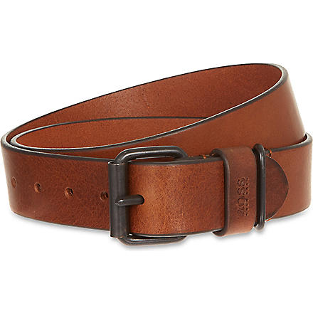 HUGO BOSS Leather belt (Tan