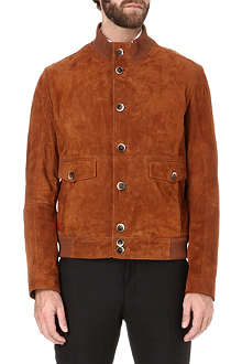 HUGO BOSS Suede bomber jacket