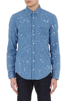 HUGO BOSS Bleached denim shirt