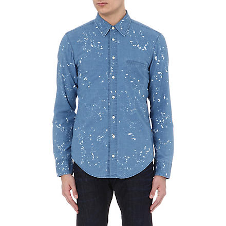 HUGO BOSS Bleached denim shirt (Blue