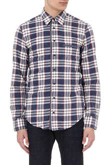 HUGO BOSS Checked slub cotton shirt