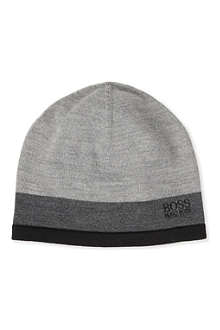 HUGO BOSS Ciny striped beanie hat