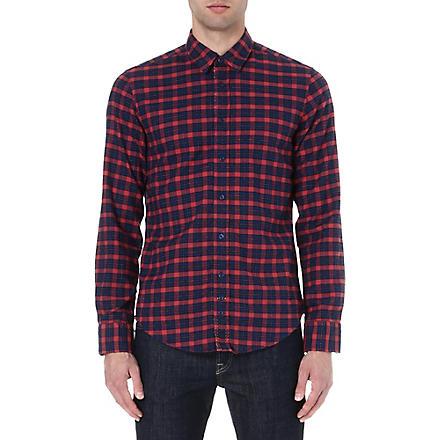 HUGO BOSS Flannel check shirt (Red