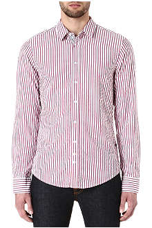 HUGO BOSS Cliff seersucker-stripe shirt
