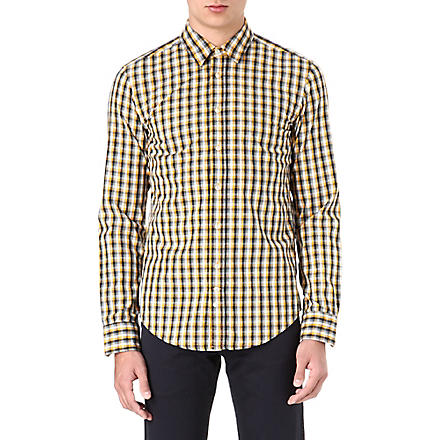 HUGO BOSS Cliffe checked shirt (Yellow