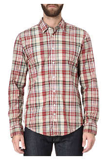 HUGO BOSS Checked cotton shirt