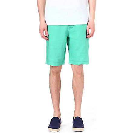 HUGO BOSS Clyde linen shorts (Green