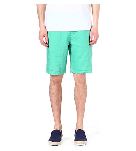HUGO BOSS Clyde linen shorts (Green
