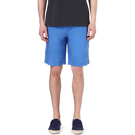 HUGO BOSS Clyde linen shorts (Blue