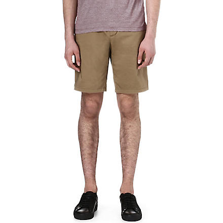 HUGO BOSS Sateen regular-fit shorts (Tan
