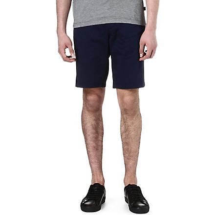 HUGO BOSS Sateen regular-fit shorts (Navy