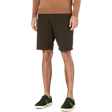 HUGO BOSS Clyde checked shorts (Green