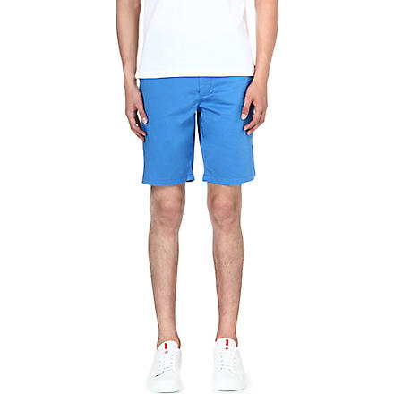 HUGO BOSS Clyde stretch-cotton shorts (Blue