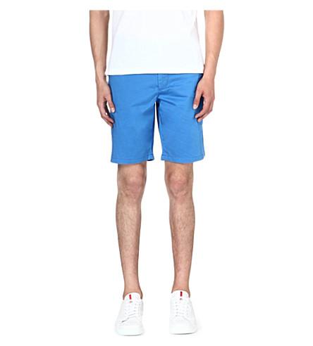 HUGO BOSS Clyde stretch-cotton shorts (Blue