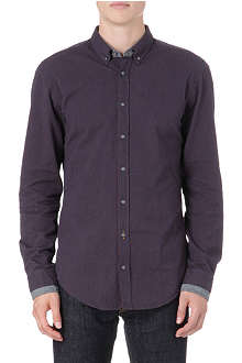 HUGO BOSS Stripe double-collar shirt