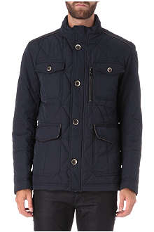 HUGO BOSS Padded leather trim jacket