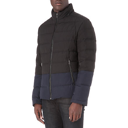 HUGO BOSS Damir1 two-tone quilted jacket (Black