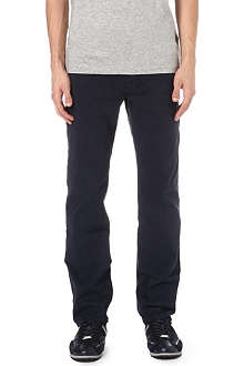 HUGO BOSS Tapered stretch-denim jeans