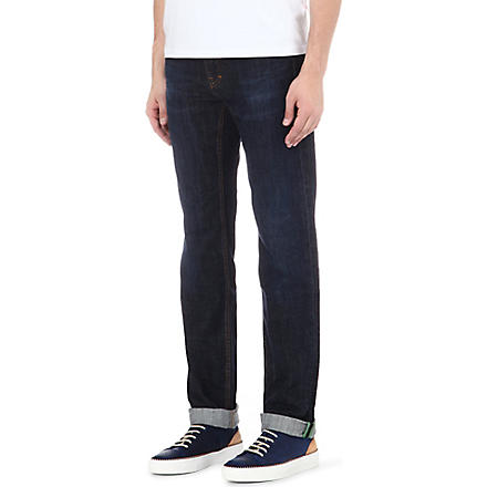 HUGO BOSS Regular-fit tapered jeans (Navy
