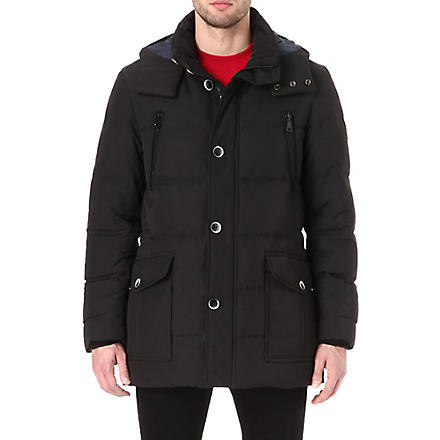 HUGO BOSS Deave detachable-hood jacket (Black