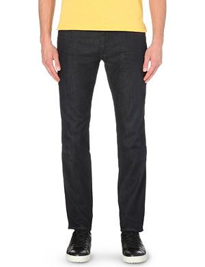 HUGO BOSS Slim-fit tapered stretch-denim jeans