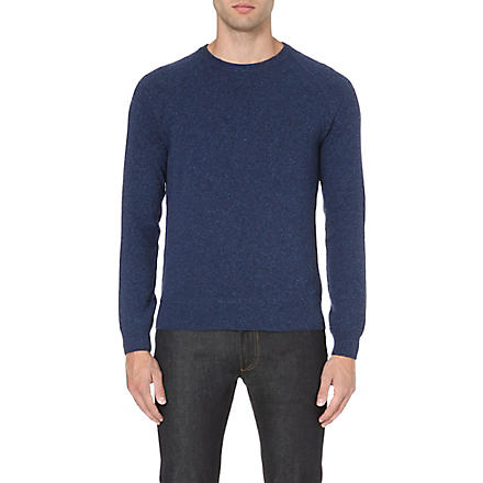 HUGO BOSS Della Torre speckled jumper (Blue