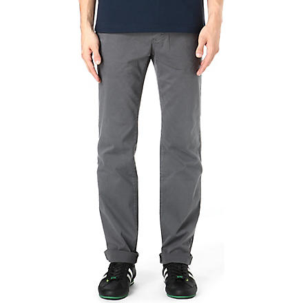 HUGO BOSS Five-pocket cotton trousers (Grey