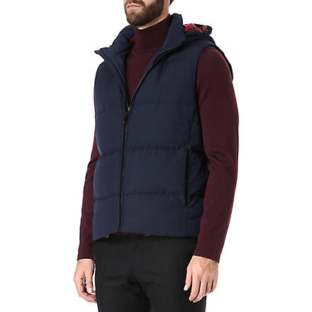 HUGO BOSS Dernom quilted gilet (Navy