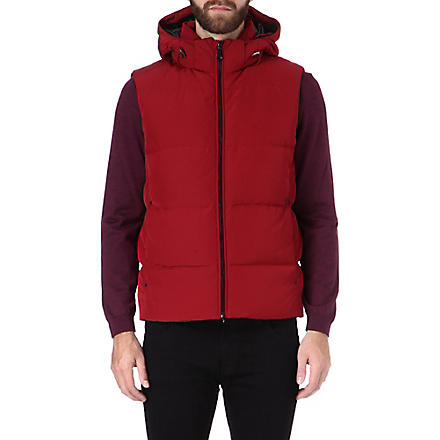 HUGO BOSS Dernom quilted gilet (Red