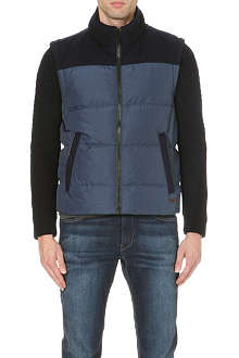 HUGO BOSS Nylon jacket with knitted sleeves