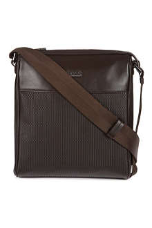 HUGO BOSS Printed weave messenger bag