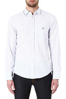 HUGO BOSS EFolkE removable-collar stripe shirt