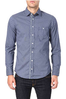 HUGO BOSS Oval-print double-cuff shirt