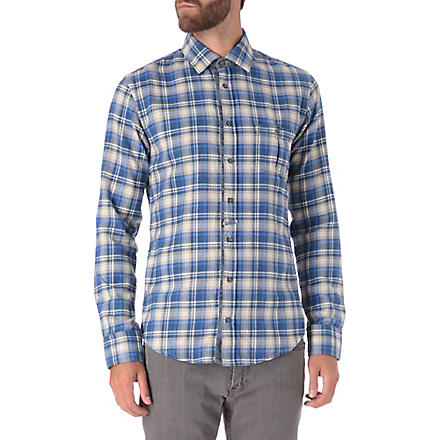 HUGO BOSS Flannel check shirt (Blue