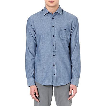 HUGO BOSS EslimE chambray shirt (Blue