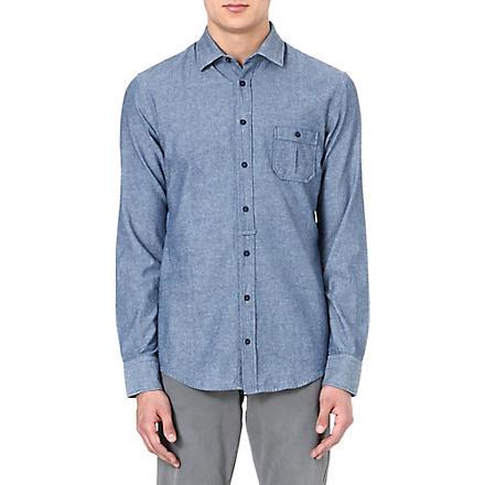 HUGO BOSS EslimE chambray shirt (Blue
