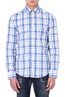 HUGO BOSS Cotton checked shirt