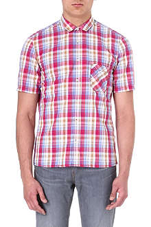 HUGO BOSS Checked short-sleeve shirt