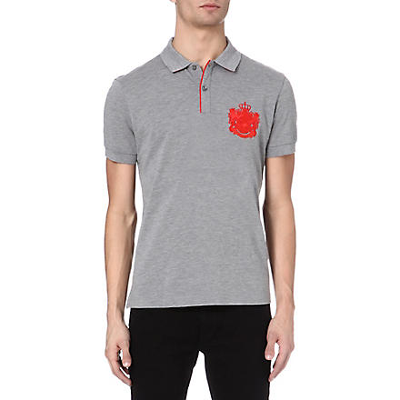 HUGO BOSS Firenze heritage logo polo shirt (Grey