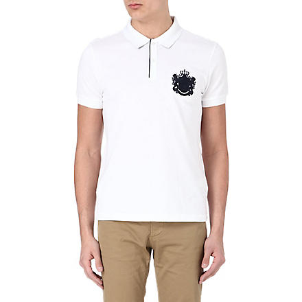 HUGO BOSS Firenze heritage logo polo shirt (White