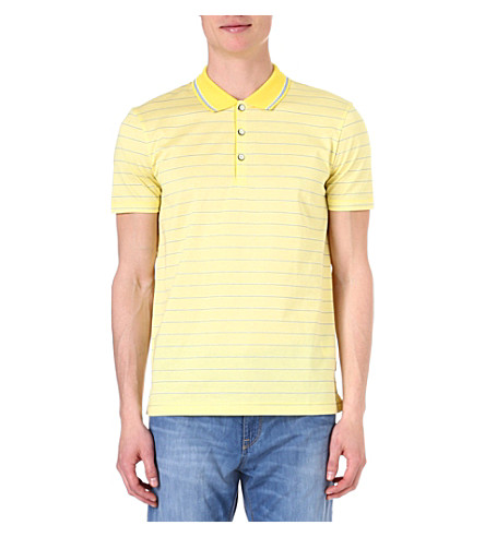 HUGO BOSS Firenze stripe polo shirt (Yellow