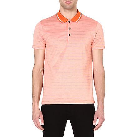 HUGO BOSS Firenze stripe polo shirt (Orange